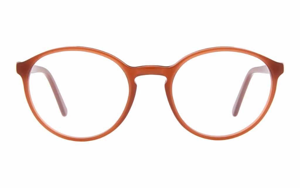 Braune Brille von Andy Wolf rund