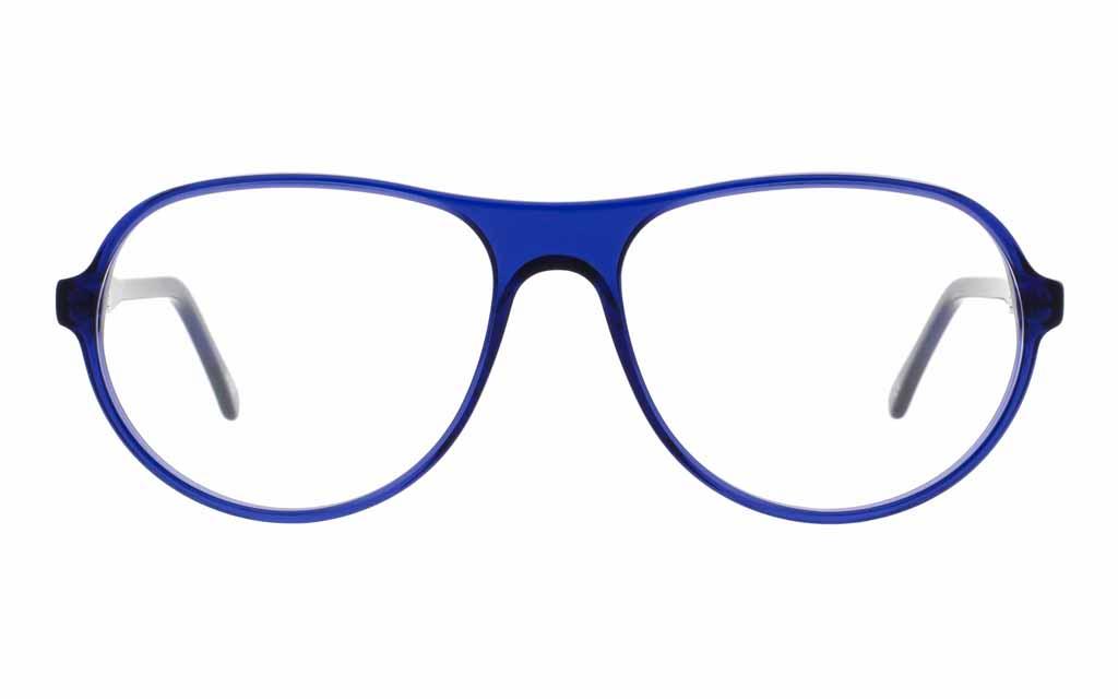Blaue Brille von Andy Wolf rund