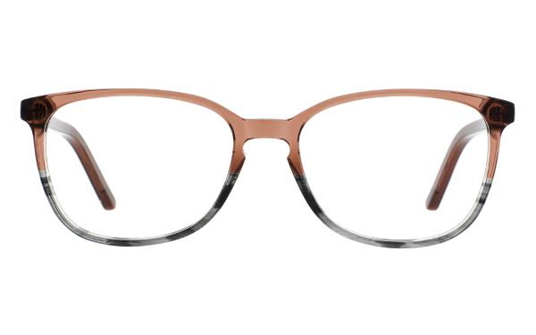 Braune Brille von Andy Wolf Eckig